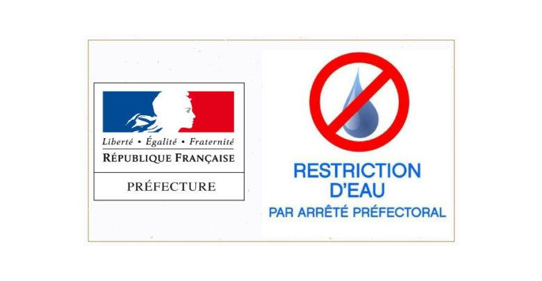Restriction deau